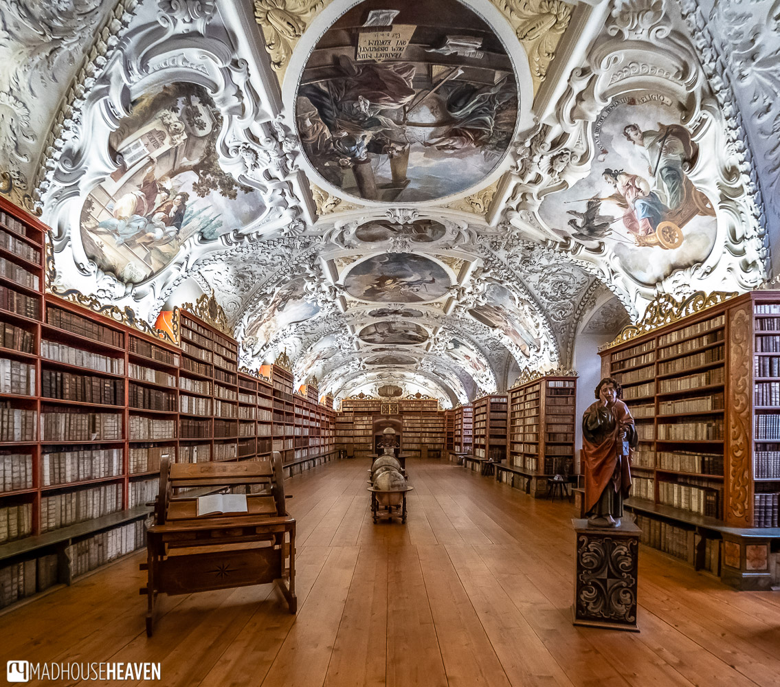 The Theological Hall, a Baroque library in Prague's Strahov Monastery