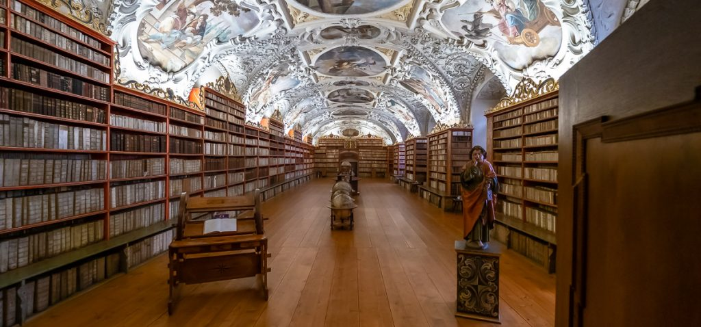 The Theological Hall, part of the Strahov Monastery, home to one of the Prague Libraries.