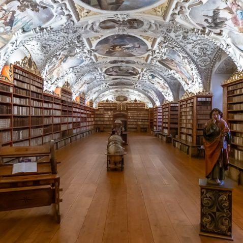 Strahov Monastery's Library - The Theological Hall, Prague, Czech Republic