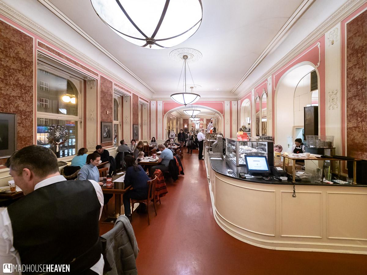 Traditional European Café in Prague where Einstein used to dine