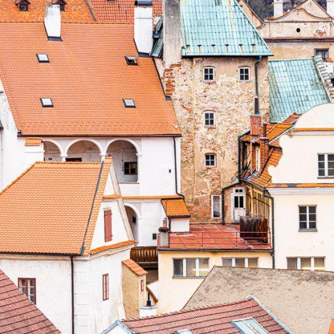 Buldings of Český Krumlov, in Czech Republic