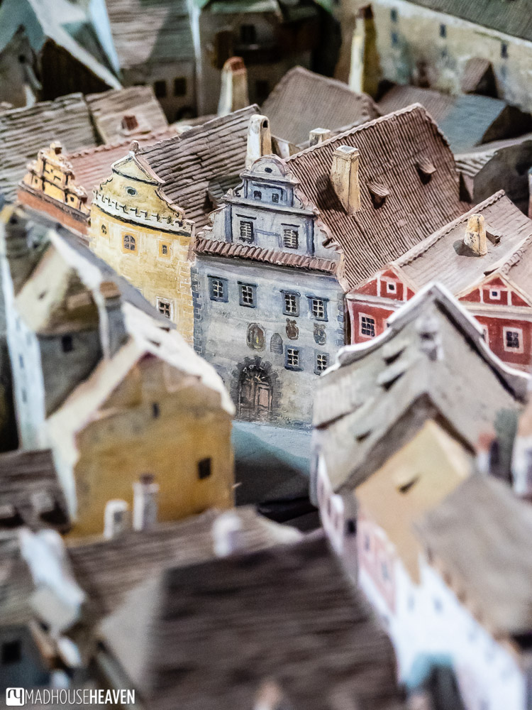 The ceramic model of the town is very detailed, right down to the murals from the 1500s - they are all depicted in the model