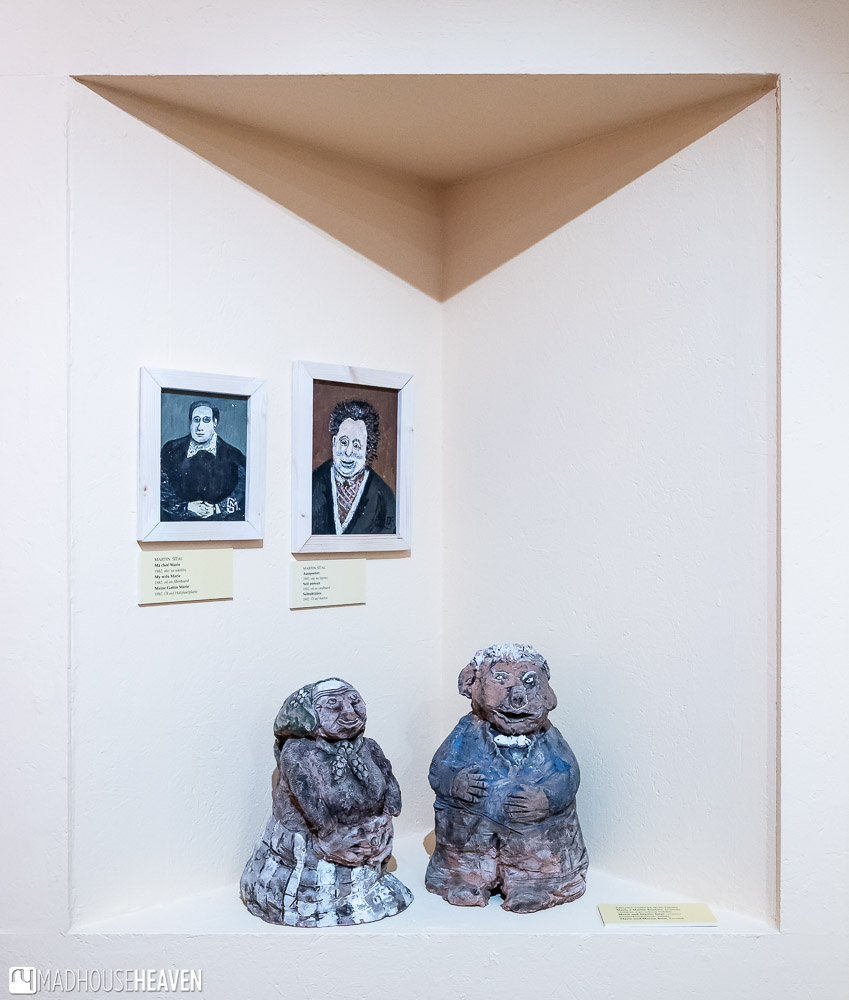 Sculptures in the naive style by Czech folk artists
