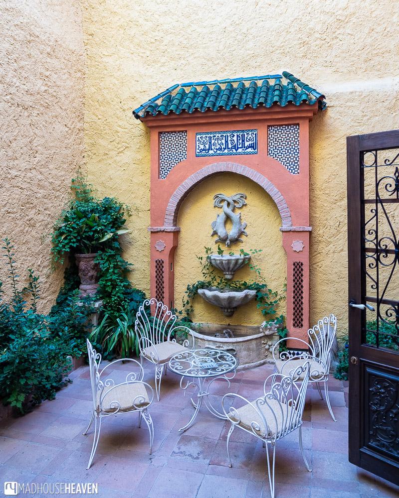 The back patio of the Palacio San Gabriel in Ronda