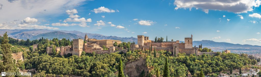 The iconic view of Alhambra from the Mirador de San Nicolás