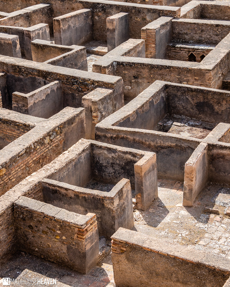 The geometric labyrinthine structure of the floor of the Alcazaba in Alhambra