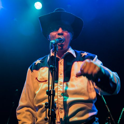 The Legendary Stardust Cowboy, live at Paard van Troje, The Hague, the Netherlands