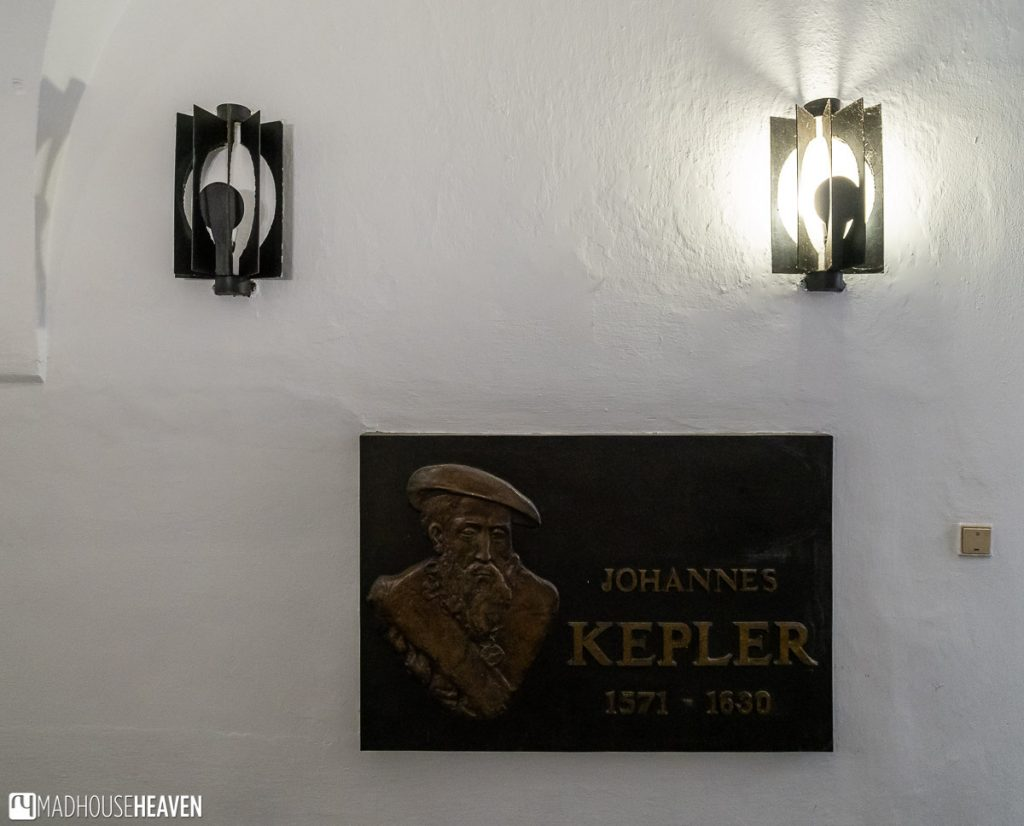 A plague with the name of Johannes Kepler on it, spotted in the Prague Old Town