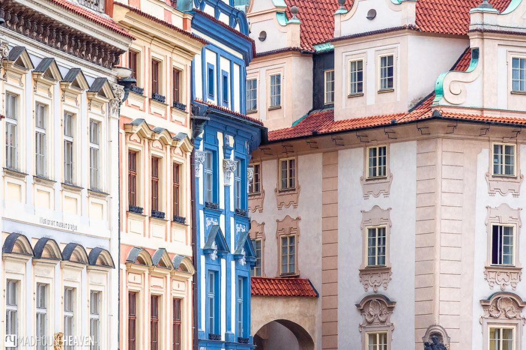 Prague's buildings are elegant, many with neo-Renaissance designs