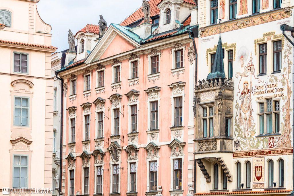 fairytale buildings in Prague's old town