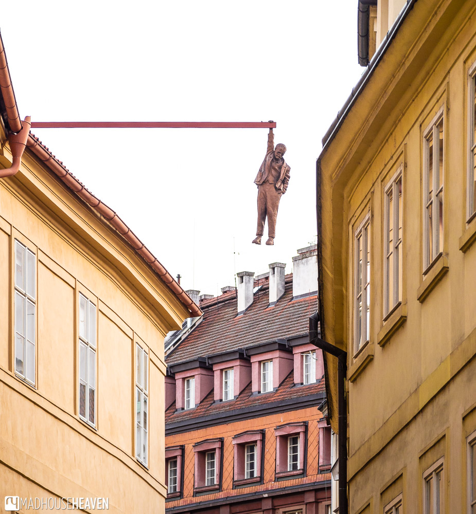 Man Hanging Out statue is actually a representation of Sigmund Freud and the follies of modern philosophy