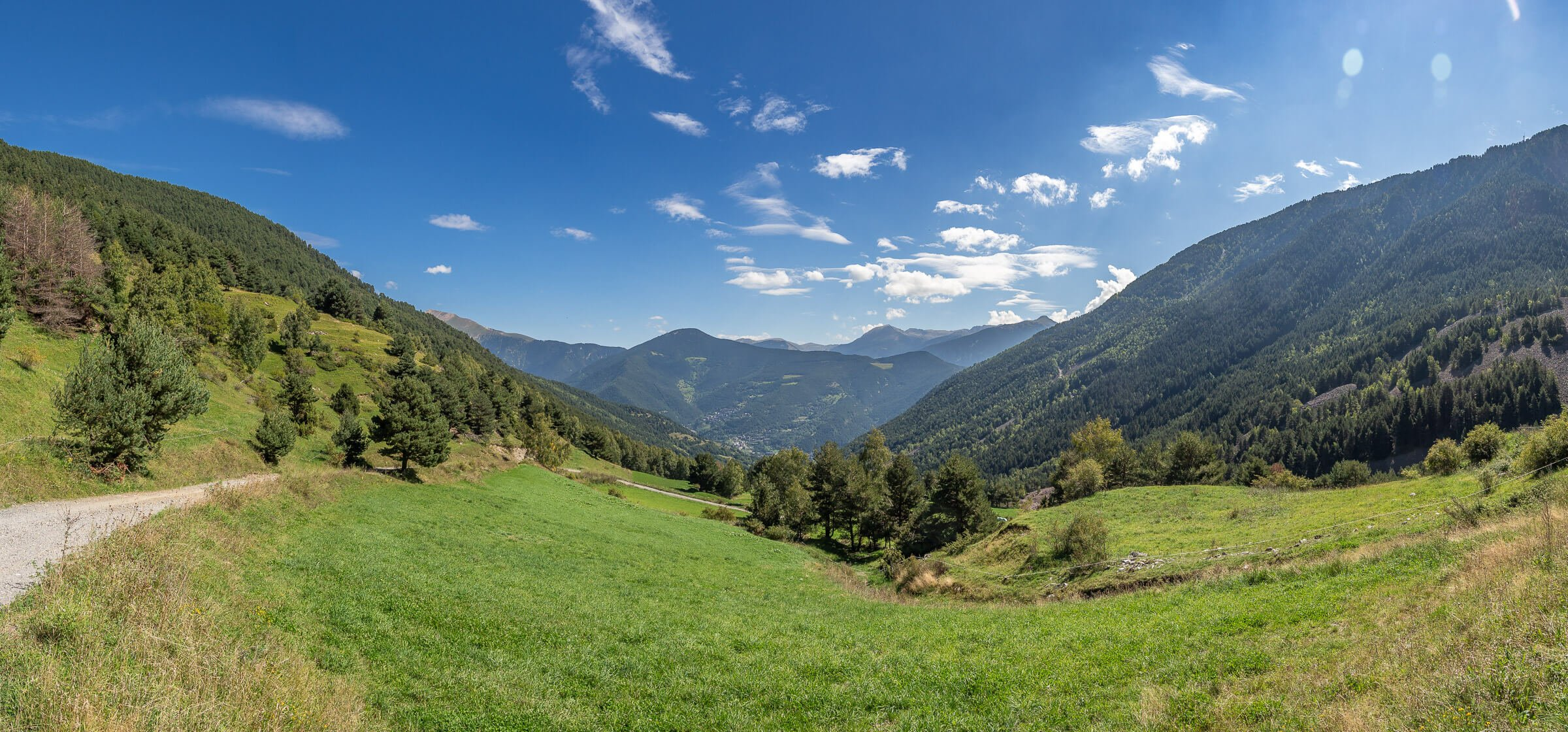 Panorama of a Mountain Valley in Andorra