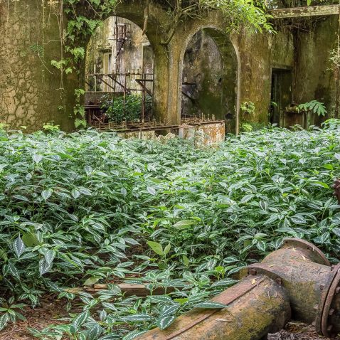 Abandoned Power Plant on Sao Miguel, the Azores, Portugal