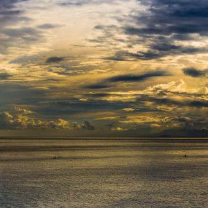 Ocean Sunset Panorama, Bali, Indonesia