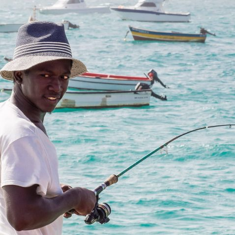 Fisherman on the Sal Island, Cape Verde