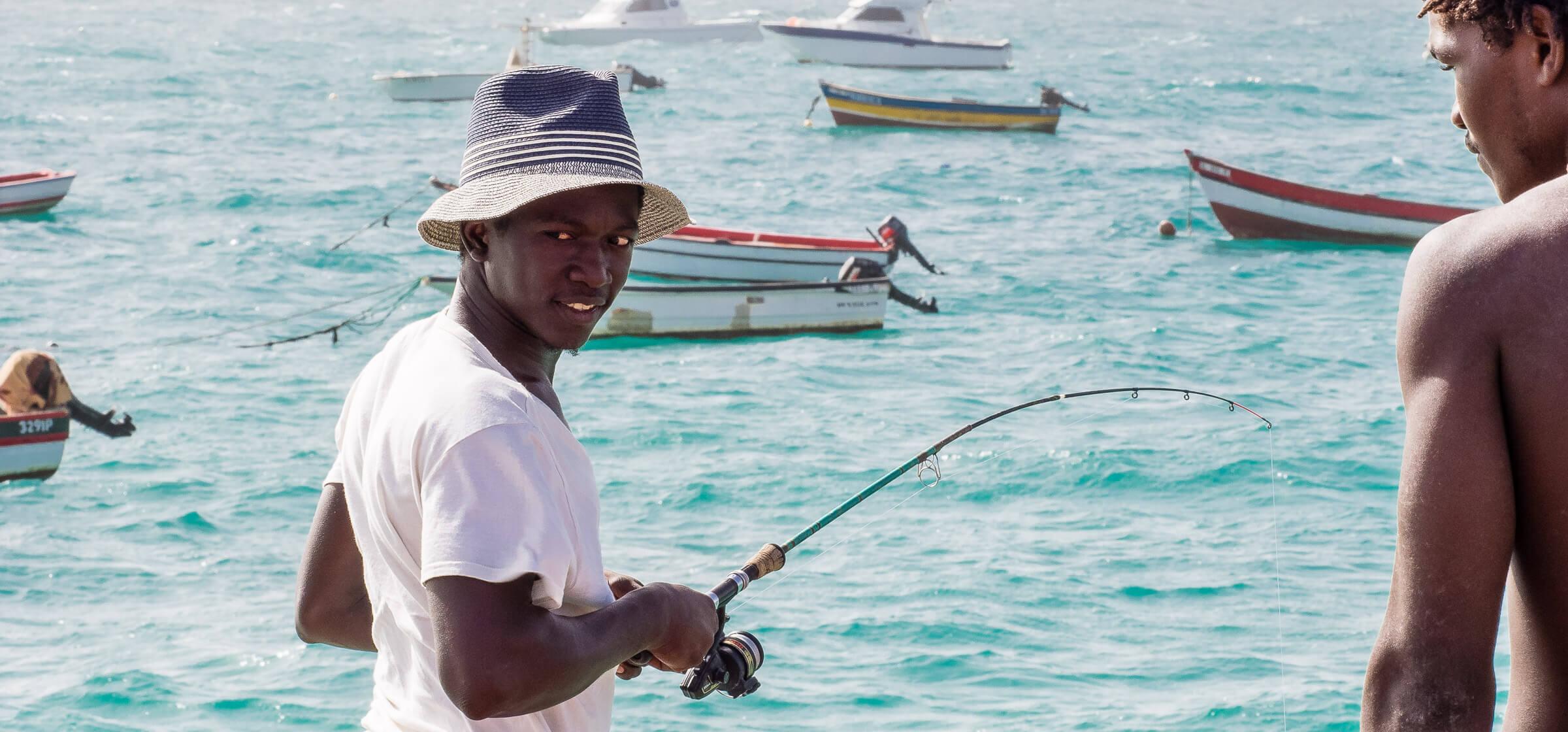 Fisherman on the Sal Island, Cape Verde