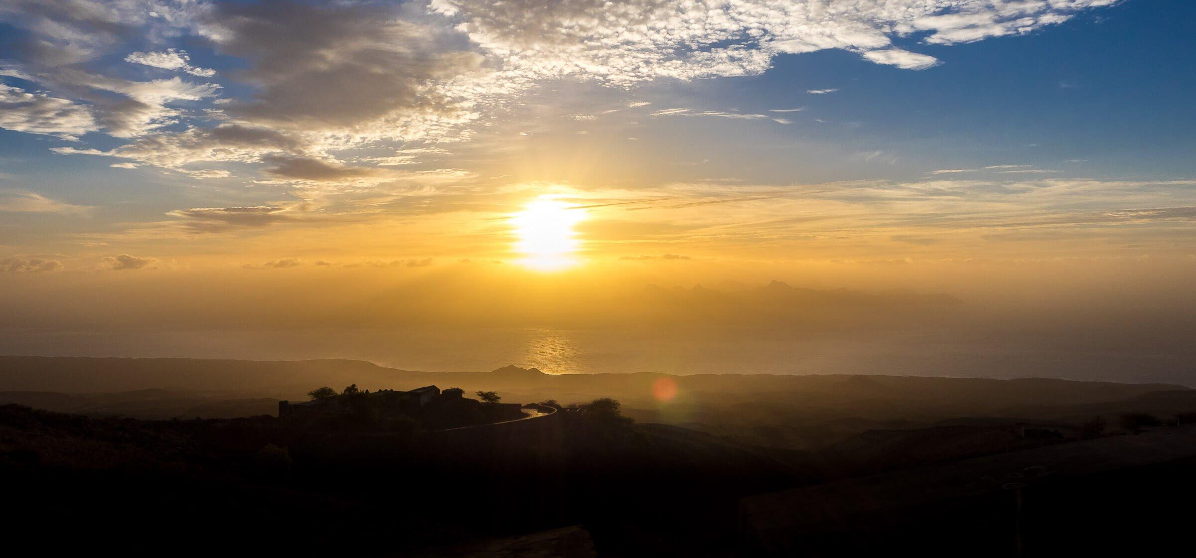 Sunrise on Sao Vicente Island, Cape Verde
