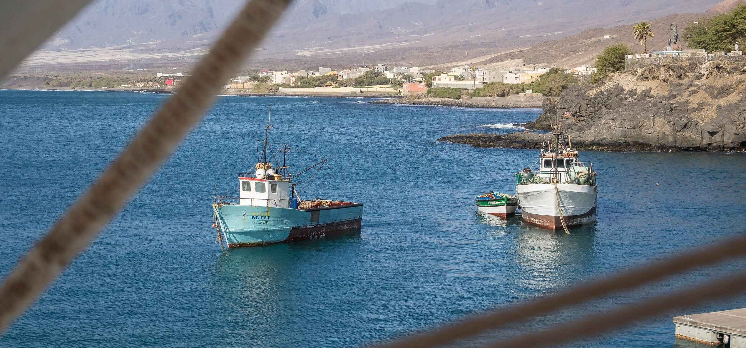 Ships in the Harbour on Sao Vicente Island, Cape Verde