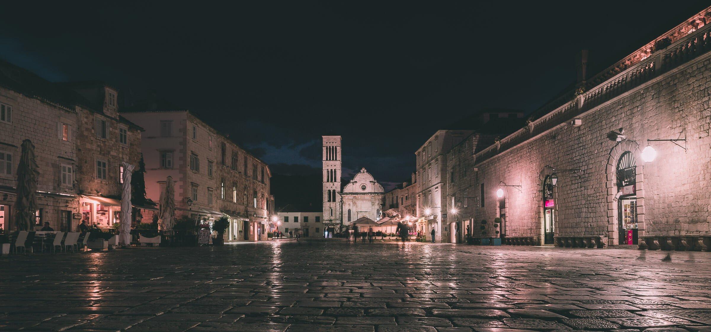 Old town Hvar, Croatia, at Night