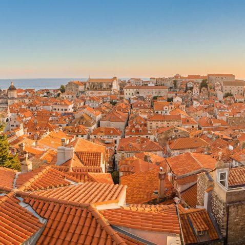 Sunset in Dubrovnik, Croatia