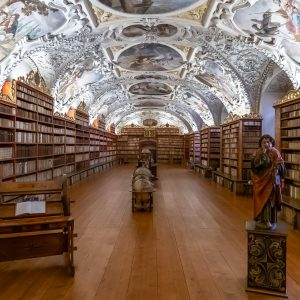 Theological Hall of the Strahov Library, Prague, Czech Republic