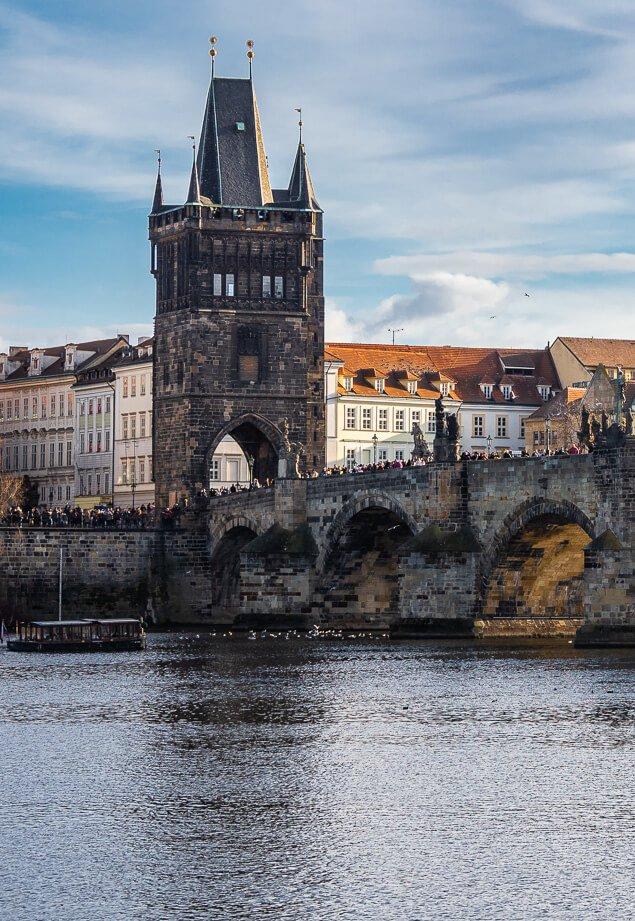 Tower Gate on the Charles Bridge, Prague, Czech Republic