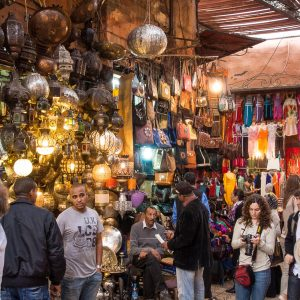 Souk Market in Marrakesh, Morocco