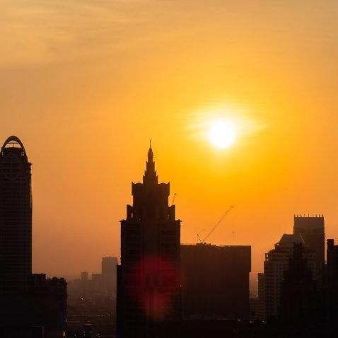 Bangkok Skyline Sunset, Thailand