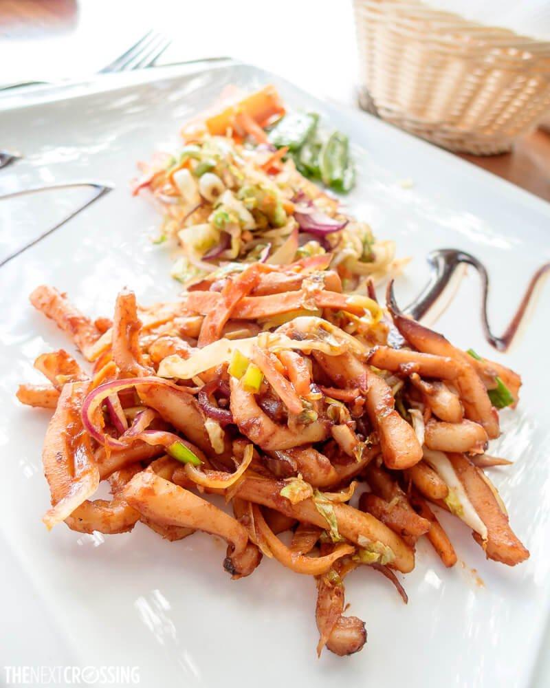 Stir fried calamari