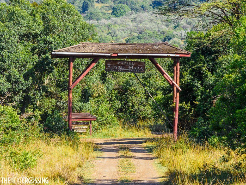 The entrance to the Royal Mara Safari Lodge