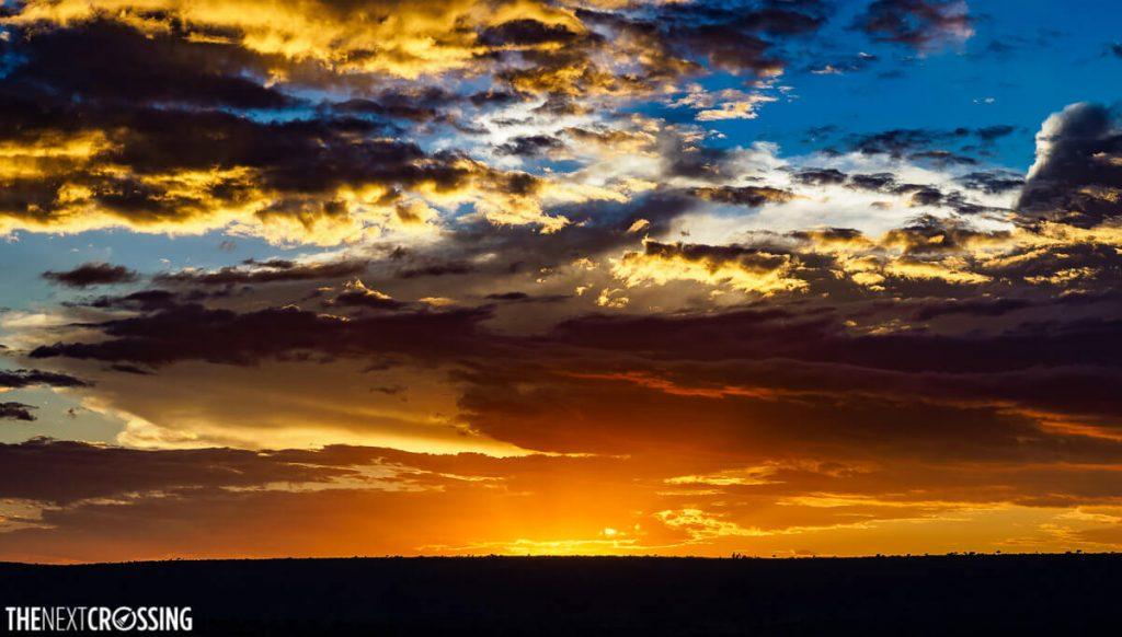 Beautiful sunset over the Masai Mara