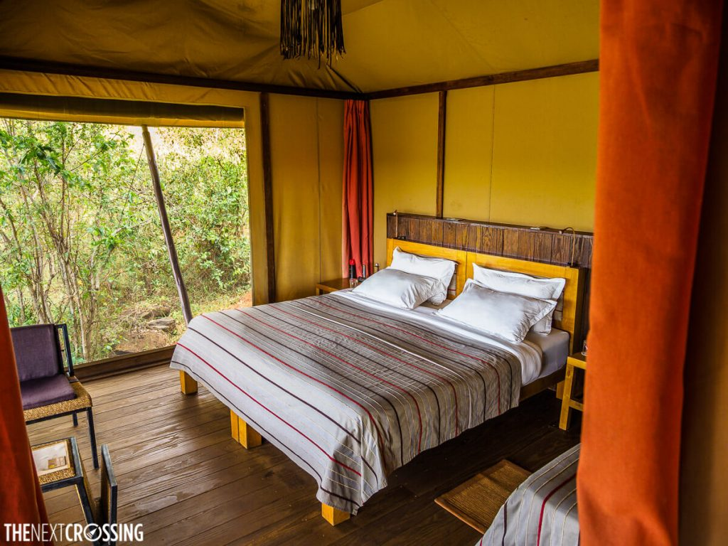 Bedroom at eagle view tented lodge
