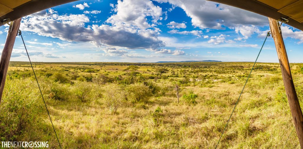 View of Masai Mara grasslands from Eagle View Camp