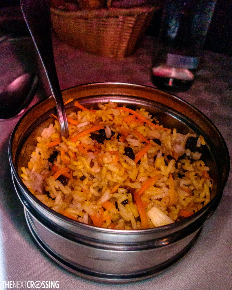 tumeric flavoured rice with carrots lenyan dish