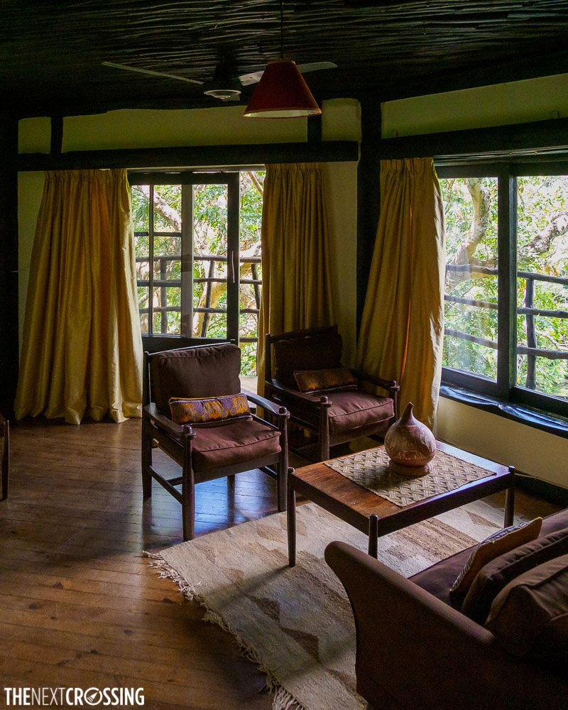 the living room or sitting area of the suite in shimba hills lodge