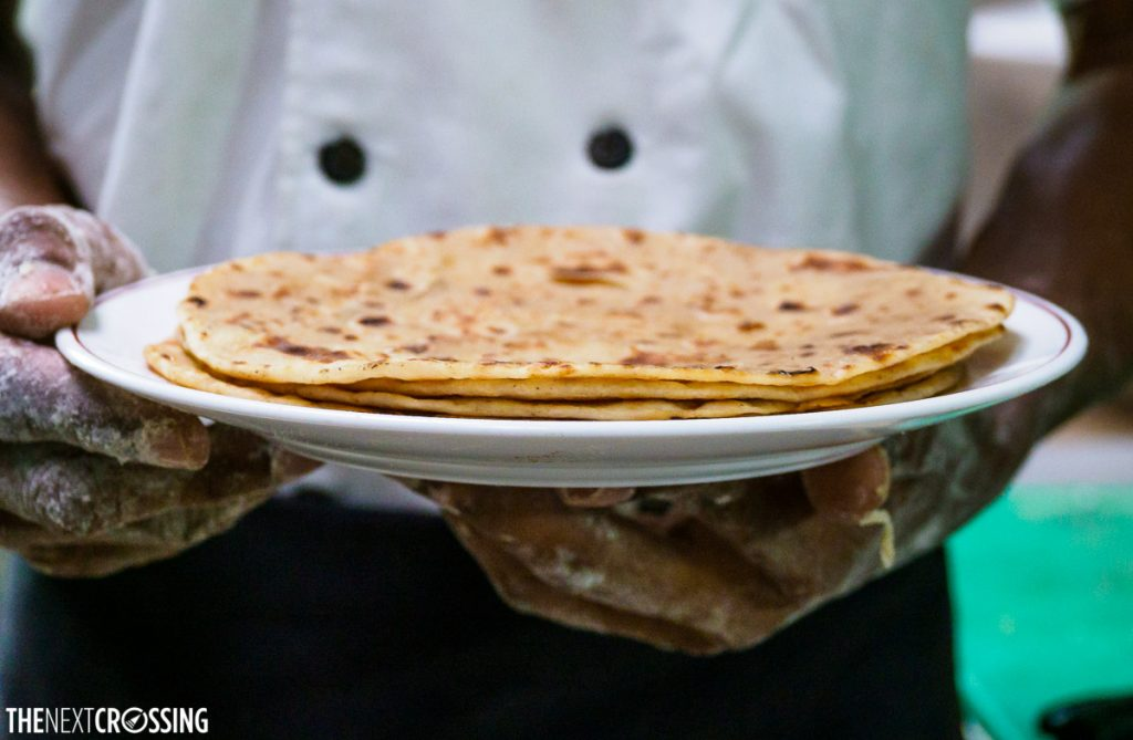 Chapati, broiled golder