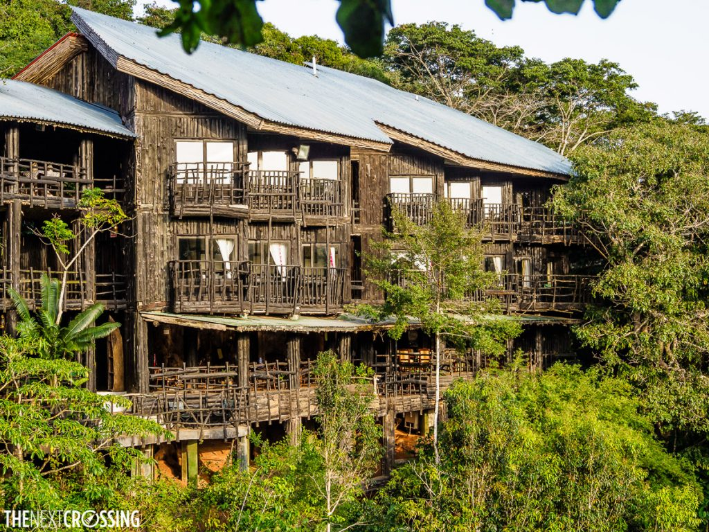 The magical treehouse like exterior of Shimba Hills Lodge