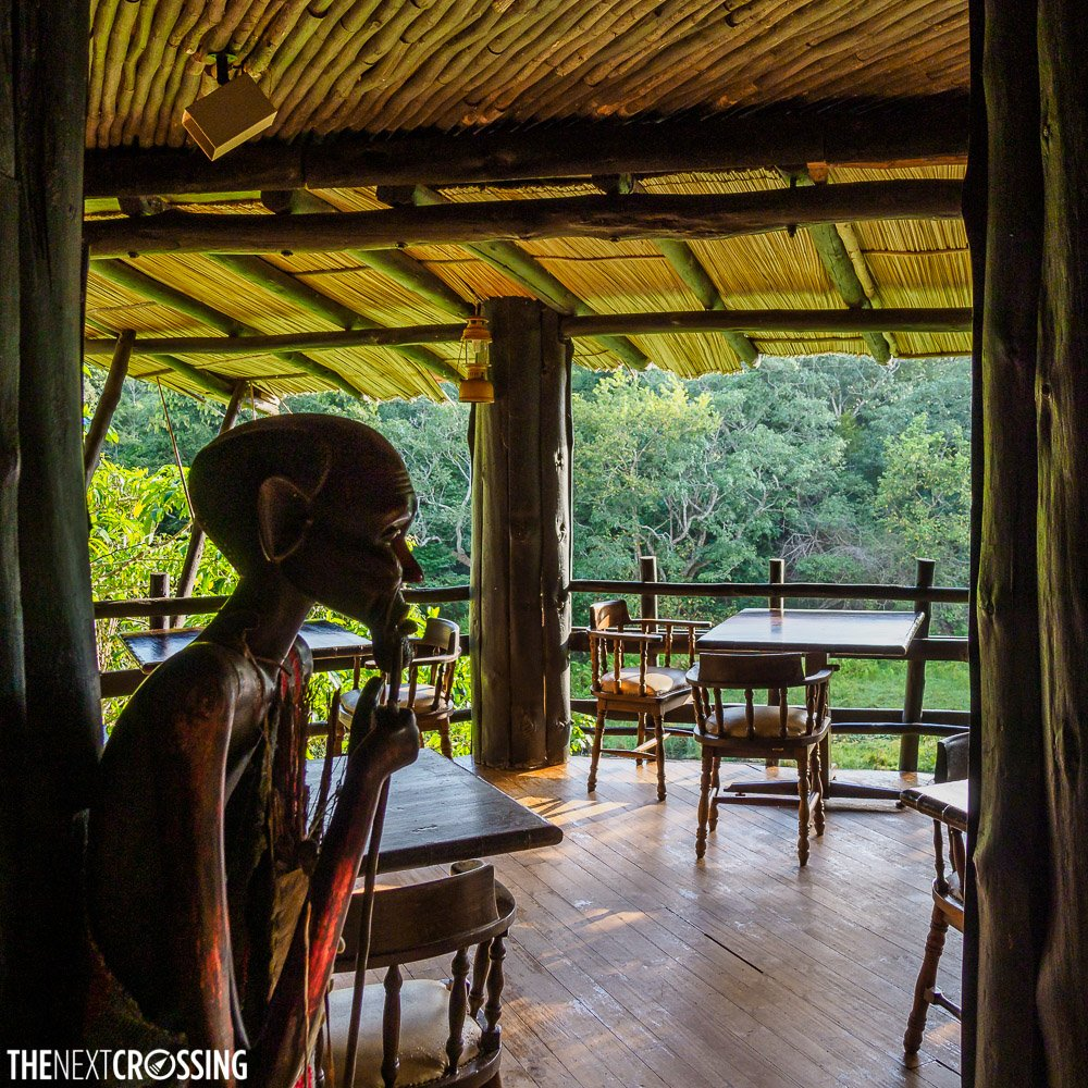 The restaurant of Shimba Hills Lodge