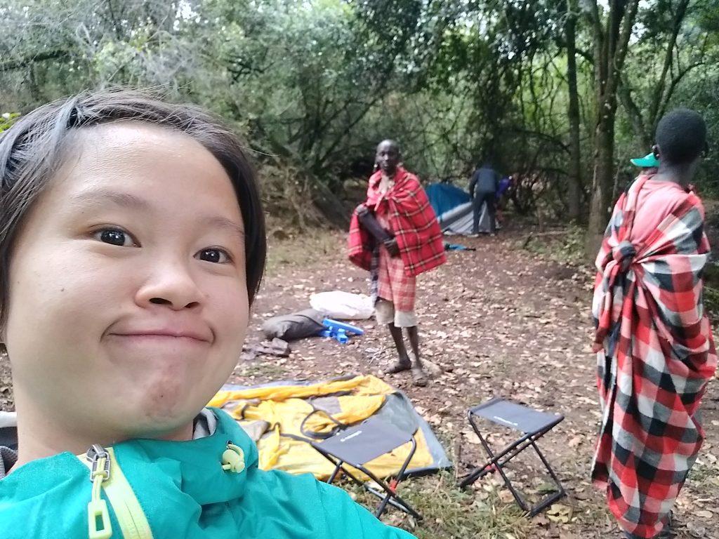 Camping in Maasai land