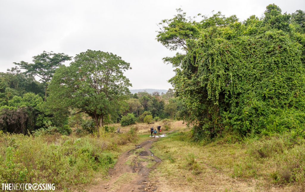 Hiking through the stunning, lush, green landscape around the Entasopia river