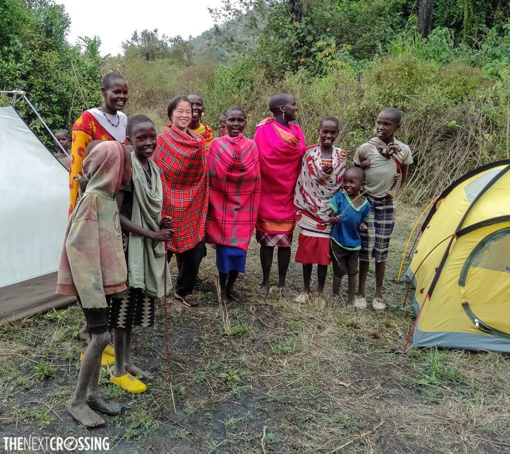 Photo with Maasai children in the Kenyan bush