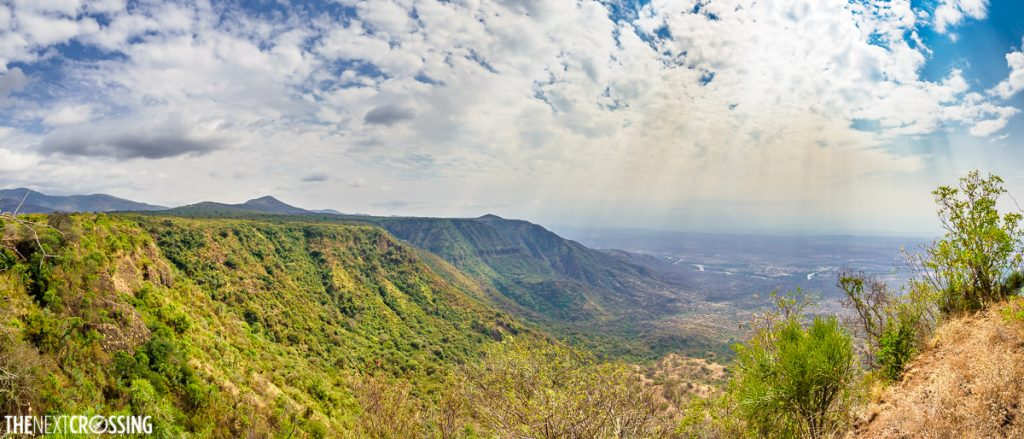 Breath-taking views of the Great Rift valley from the Nguruman escarpment