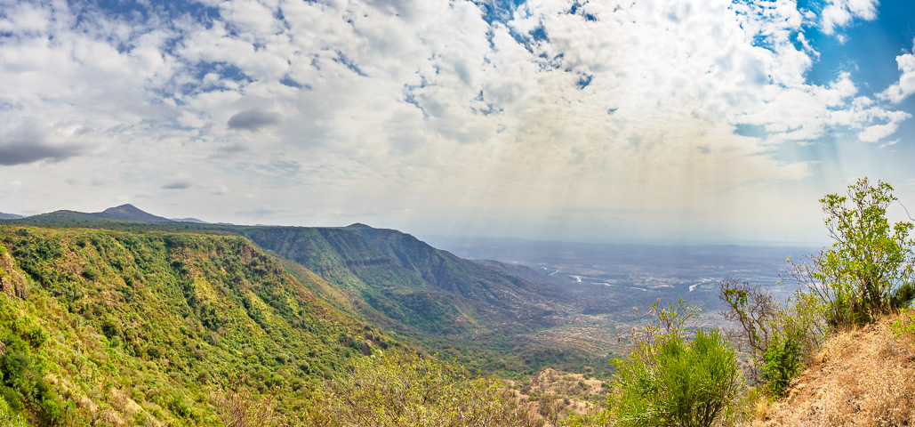view of great rift valley from nguruman escarpment