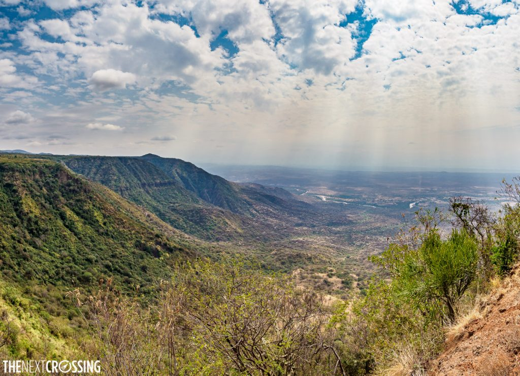 View of the Great Rift Valley from Nguruman escarpment