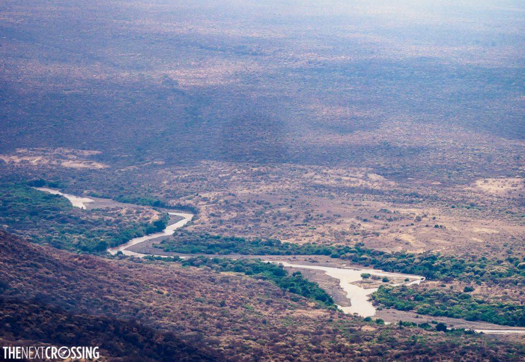 The Ewaso Ng'iro river flowing through the plains of Kenya's Maasai land