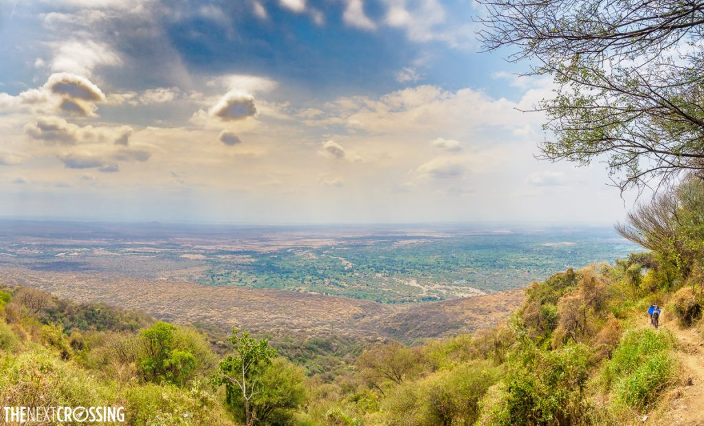 hiking along the trail of the great rift valley