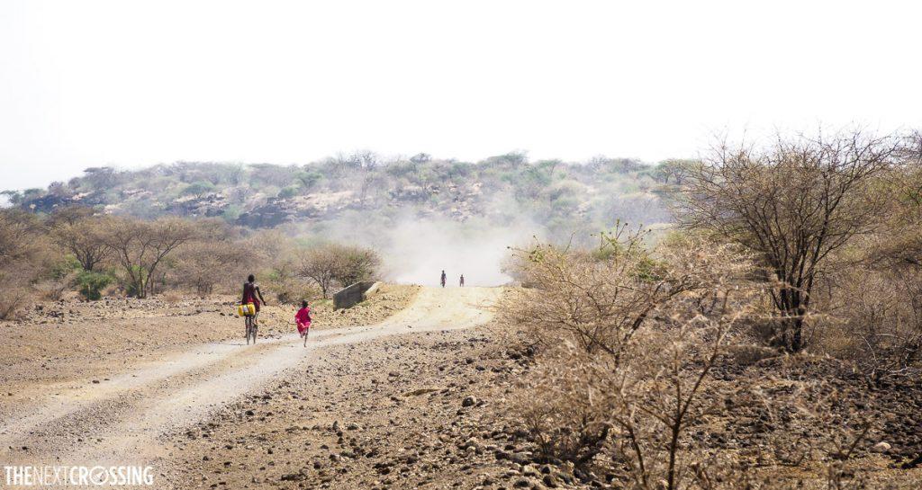 The dusty road towards Lake Magadi